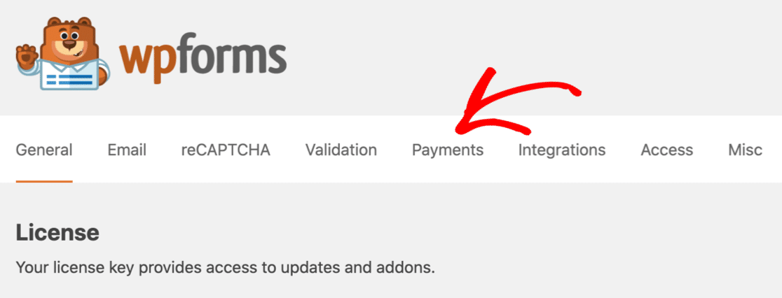 WPForms download settings for download forms