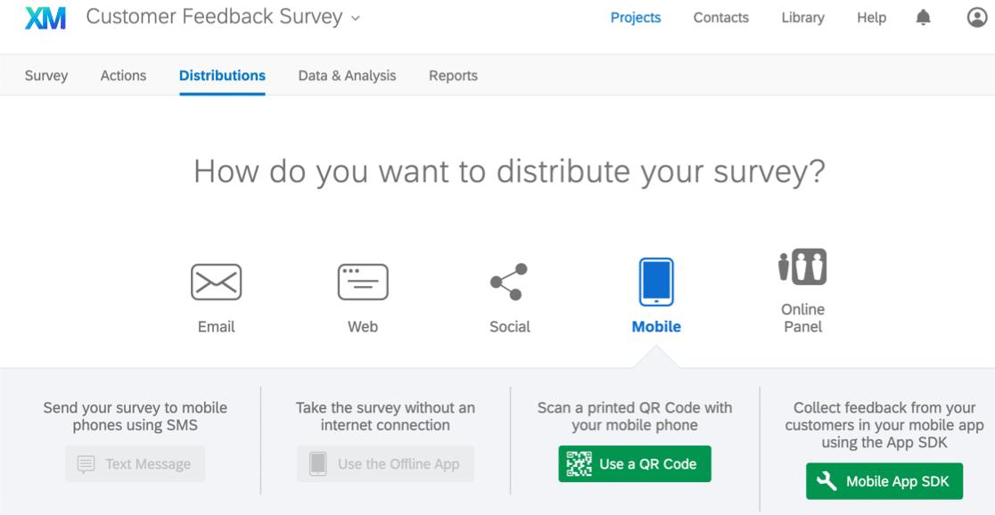 Distribute a survey in Qualtrics