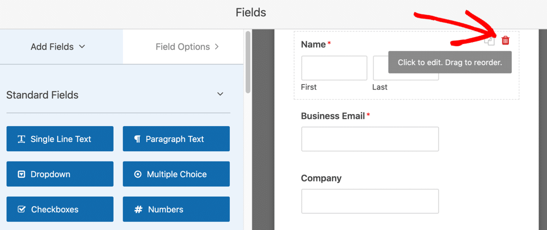 Remove field on ebook download form