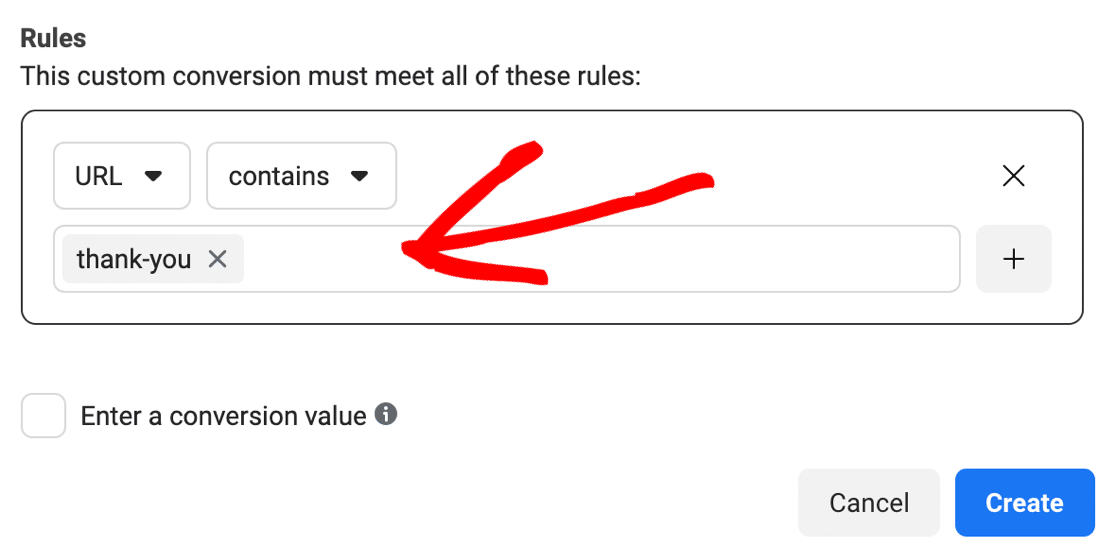 Form submission Facebook Pixel rules