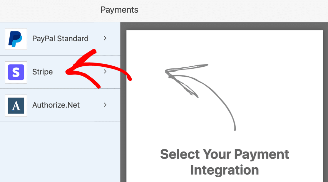 Stripe settings on WordPress download form