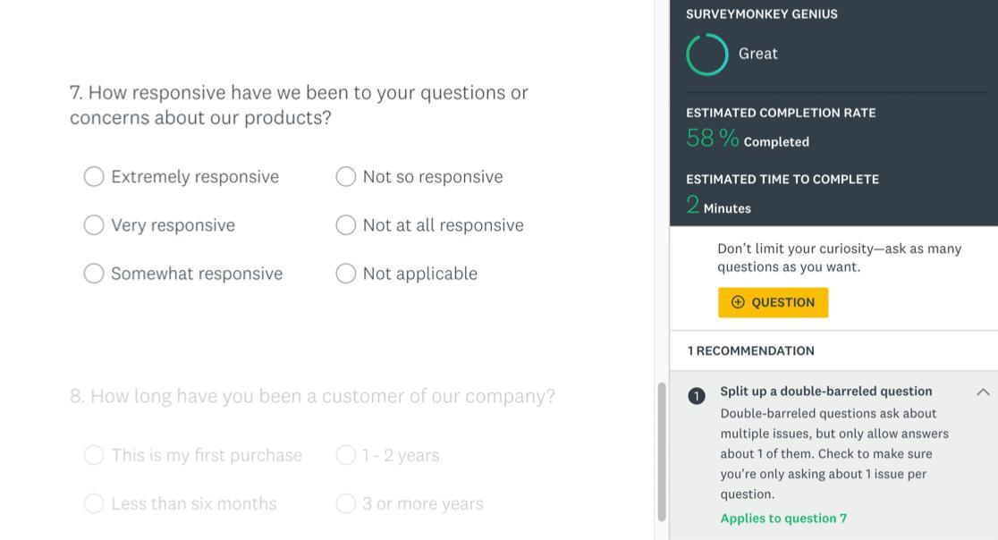 SurveyMonkey survey checks