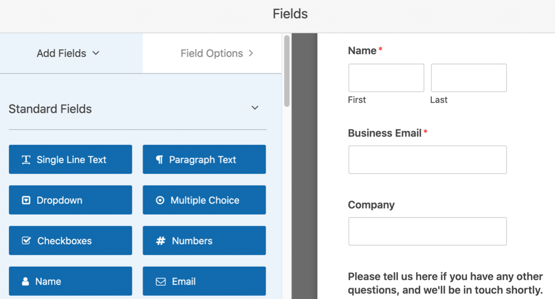 Content download form template in WordPress