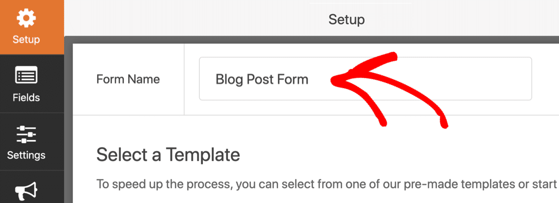 Type in your user submitted post form name