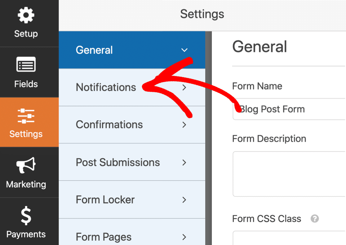 User submitted content form notifications