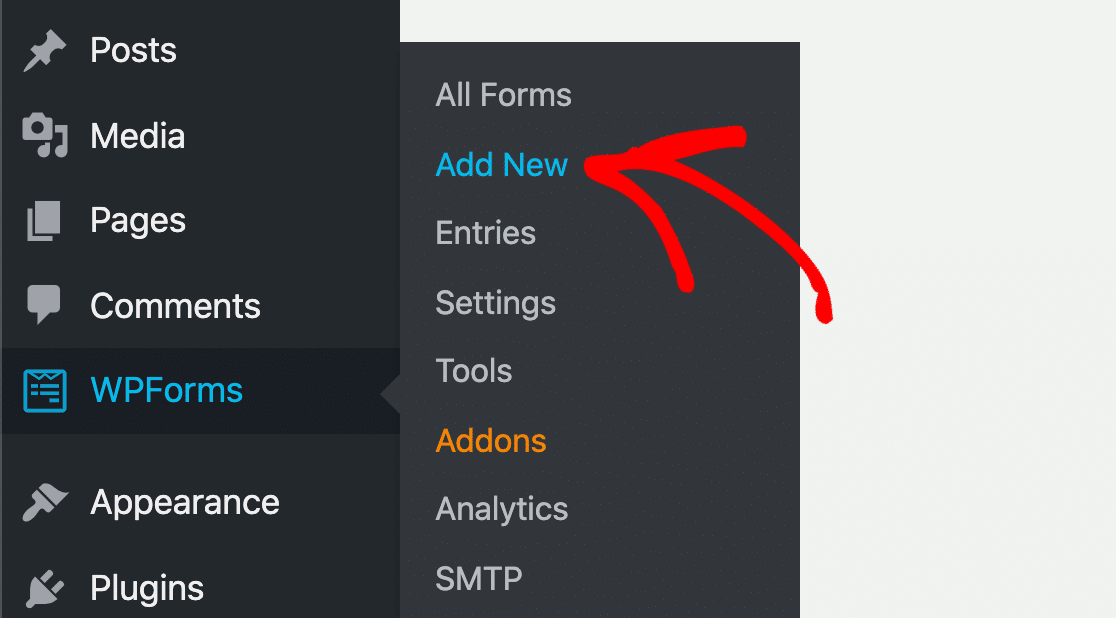 Add a new contact form for your sidebar widget in WordPress