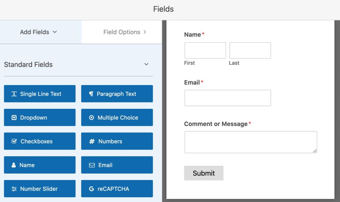 Build contact form for WordPress sidebar widget