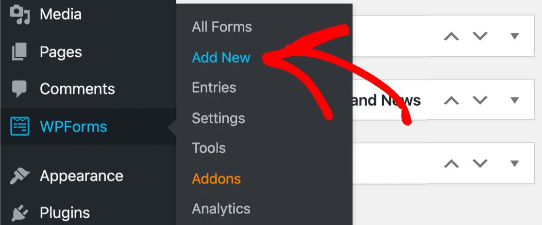Add new online pledge form