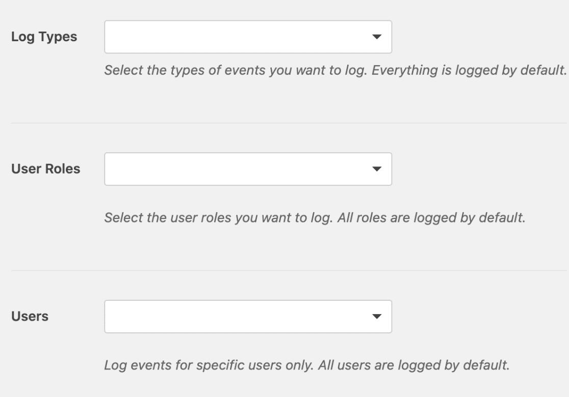 Log details in WPForms