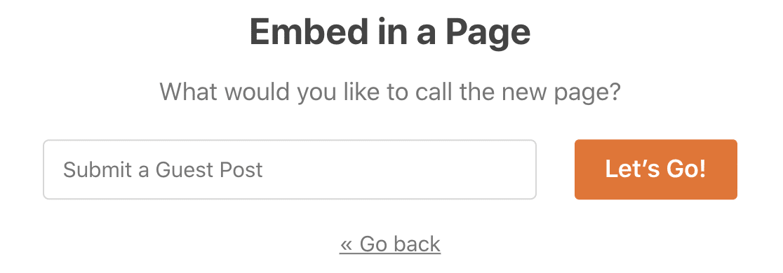 Embed your frontend guest post form in a page