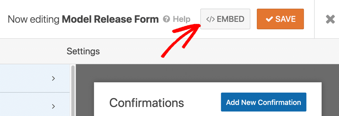 Embed your online model release form