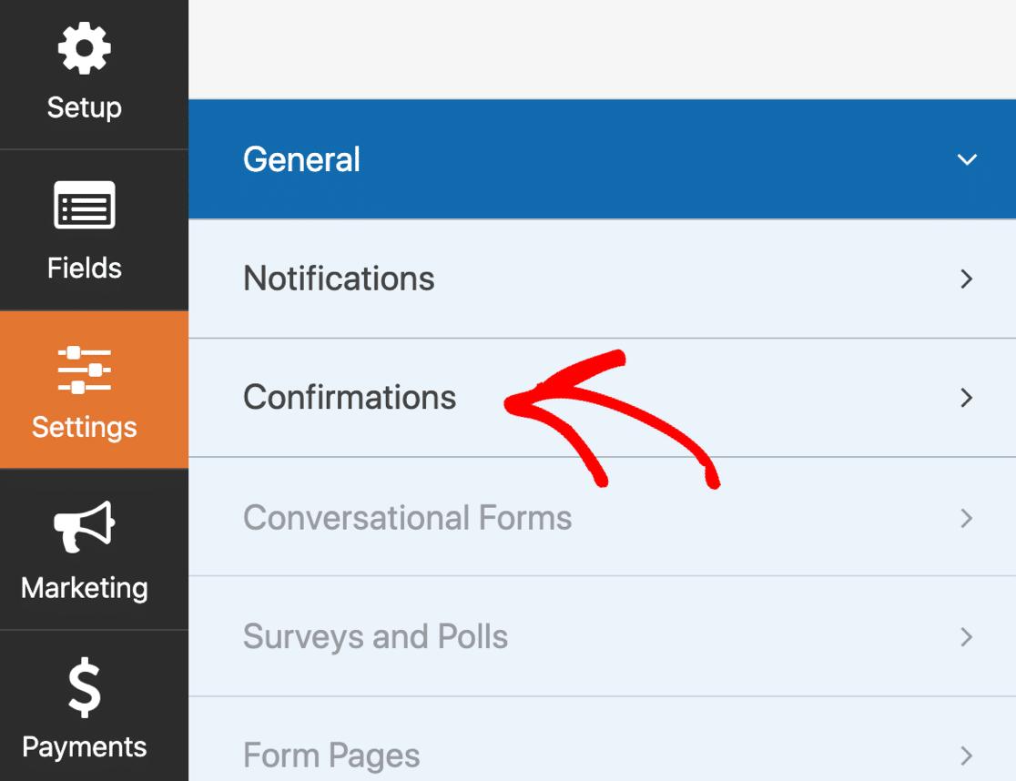 GetResponse WordPress form confirmation settings