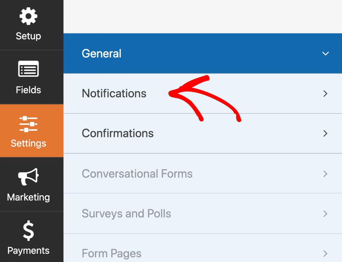 Online model release form notification settings