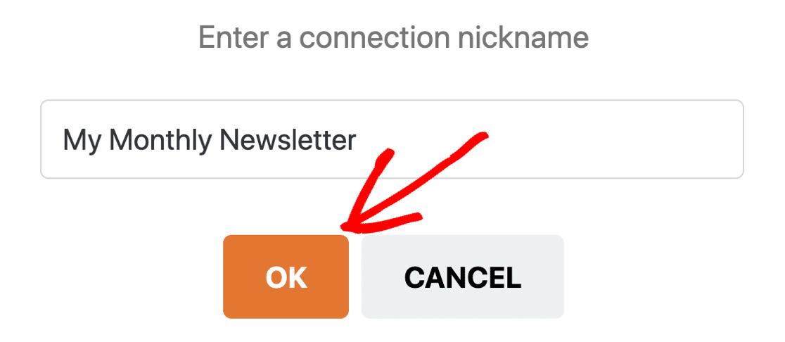 GetResponse connection nickname