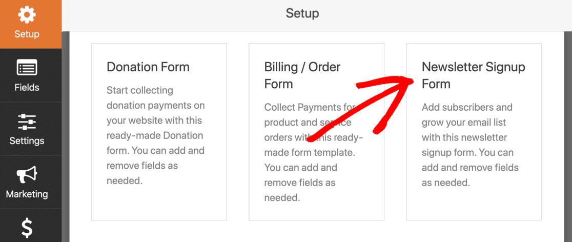 GetResponse WordPress form template