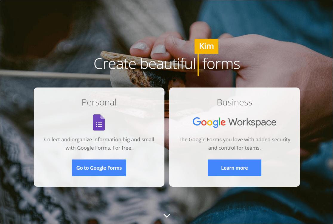 google forms free online form builder