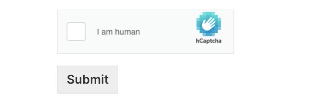 hCaptcha checkbox