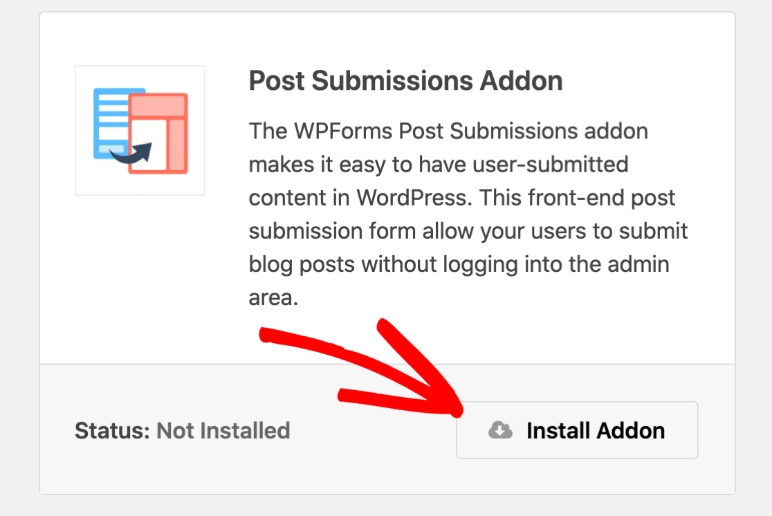 Post Submissions addon