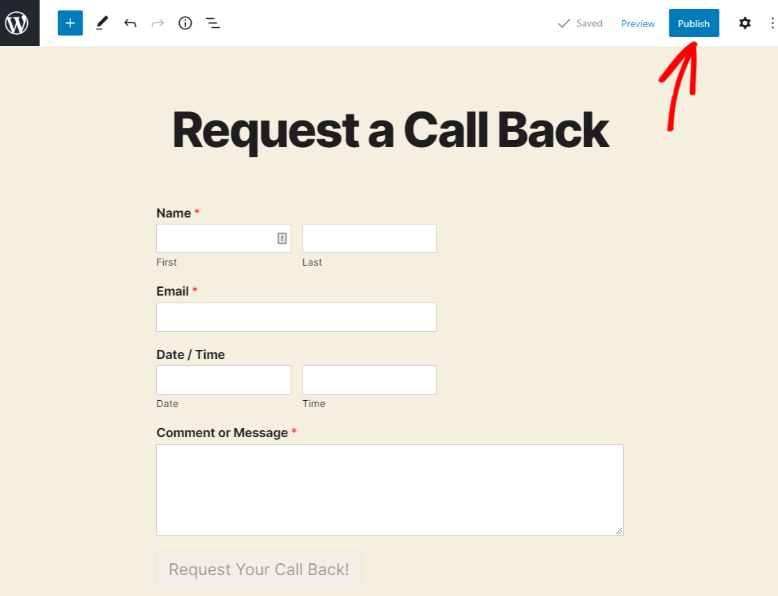 publish request a call back form to web (1)