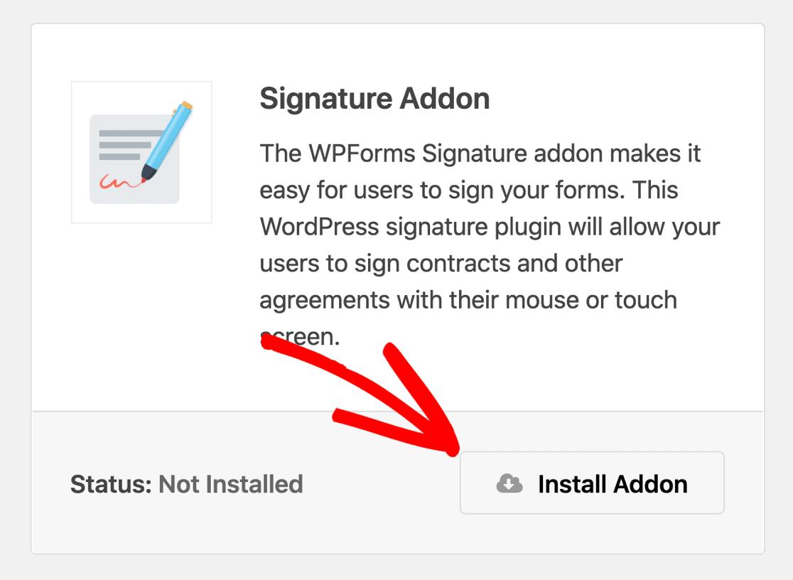 Signature addon for WPForms