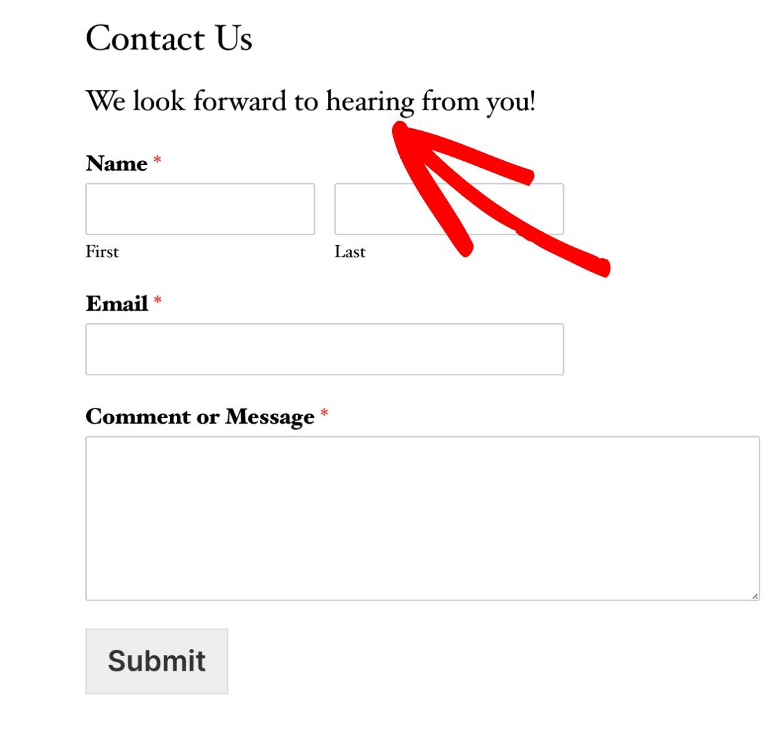 Published form title and description