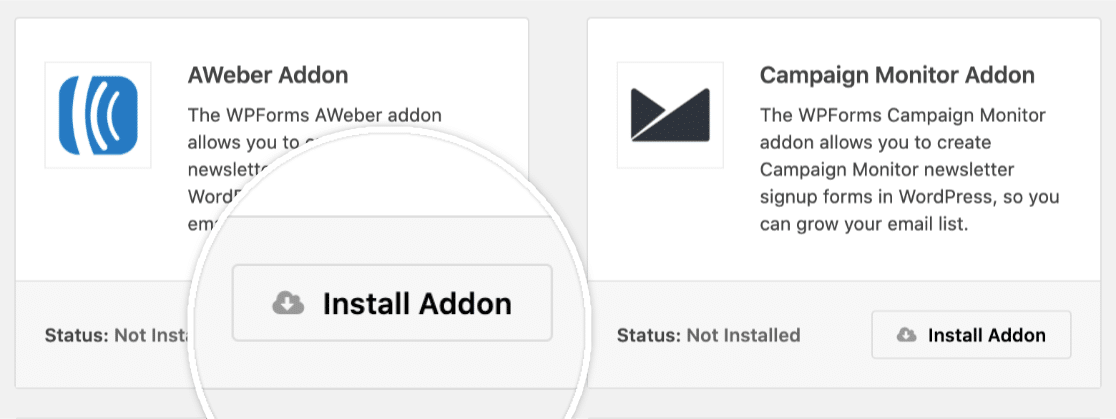Install addon in WPForms