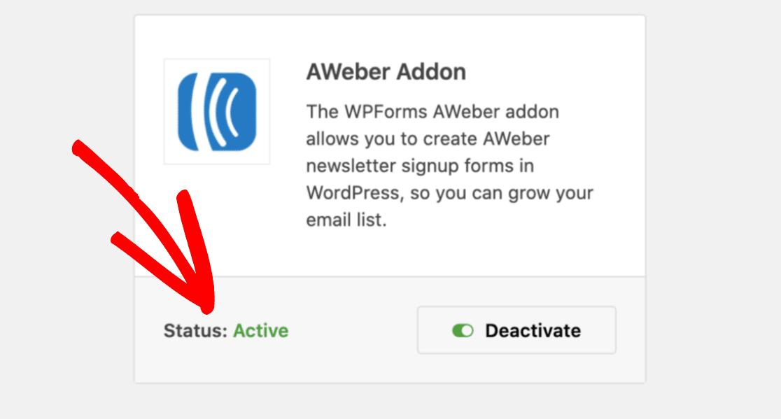 Active Addons On WPForms