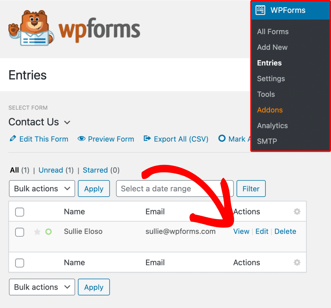 View-individual-entry-page-in-WPForms