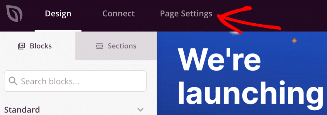 Coming soon page settings