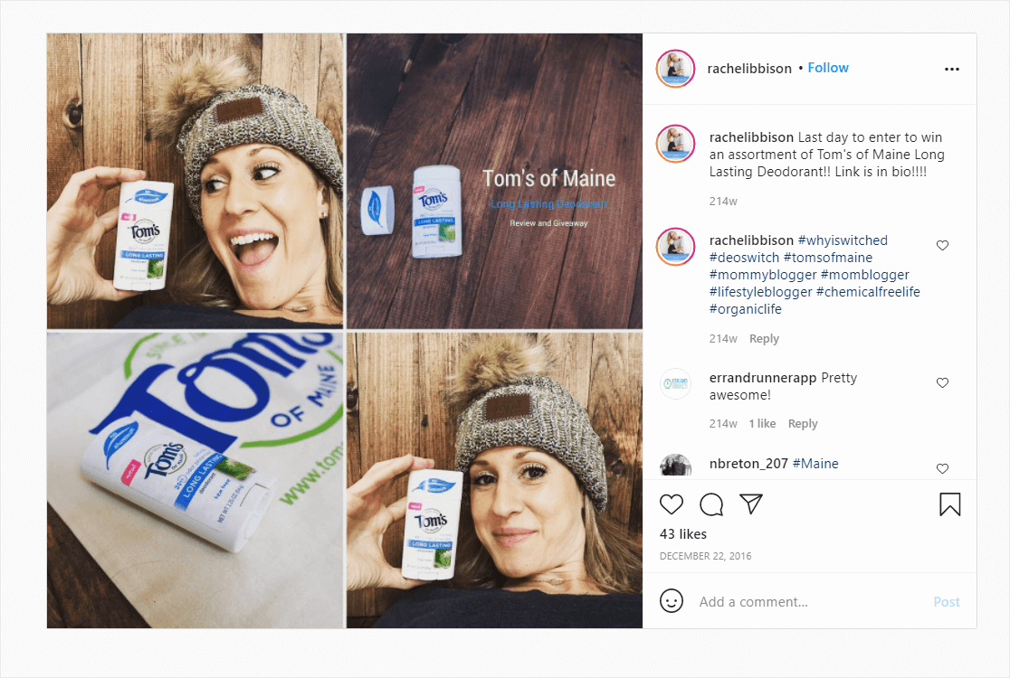 influencer marketing social proof example