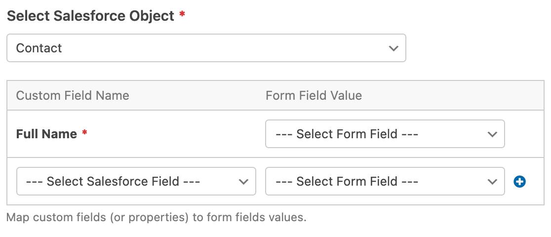 Mapping Salesforce custom fields