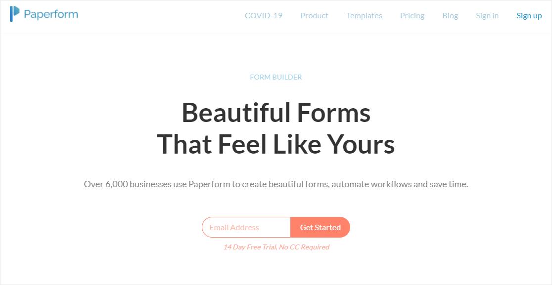 paperform typeform alternative