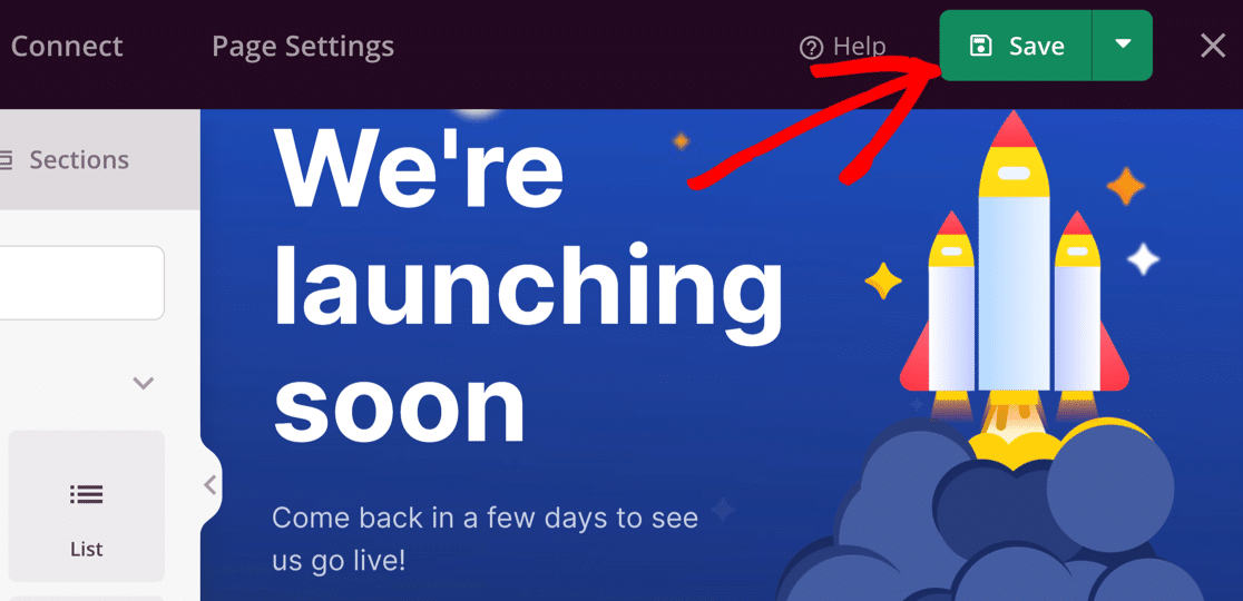Save your coming soon page