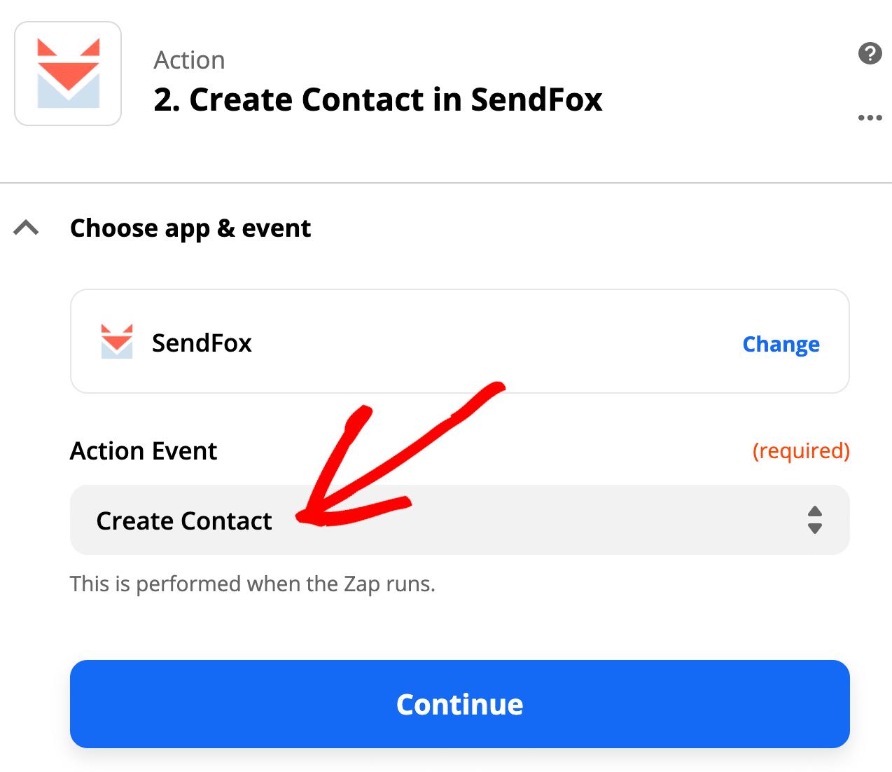 Create SendFox WordPress form contact