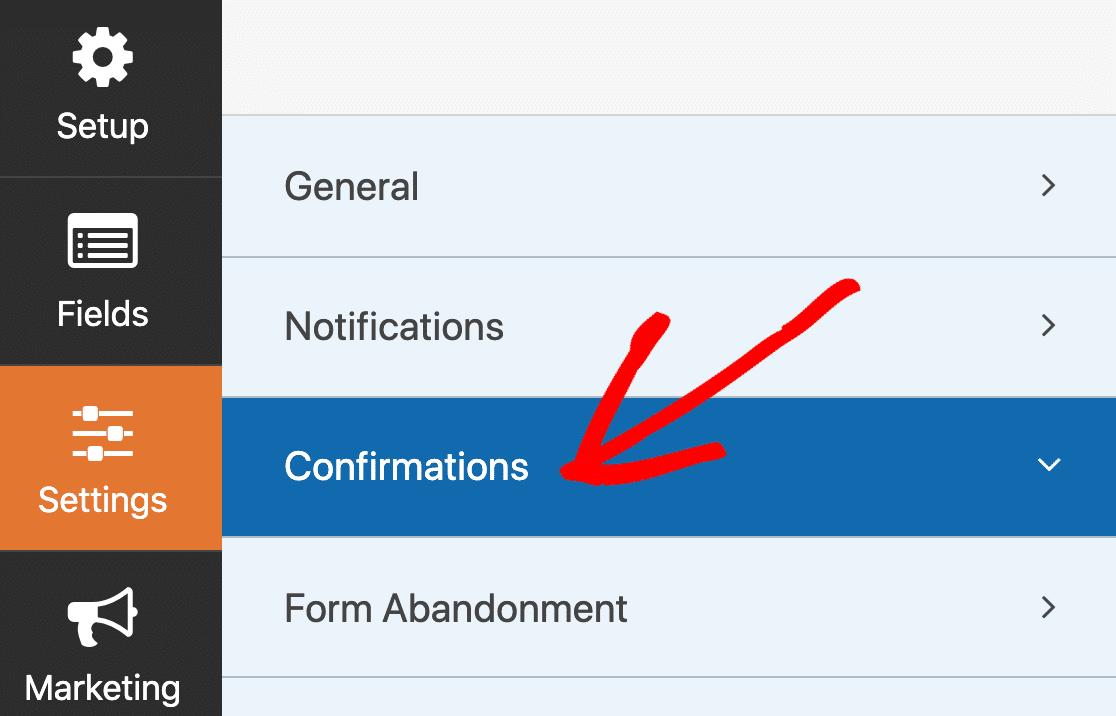 Edit SendFox WordPress form confirmation message