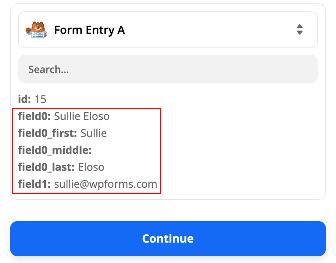 WordPress SendFox form entry