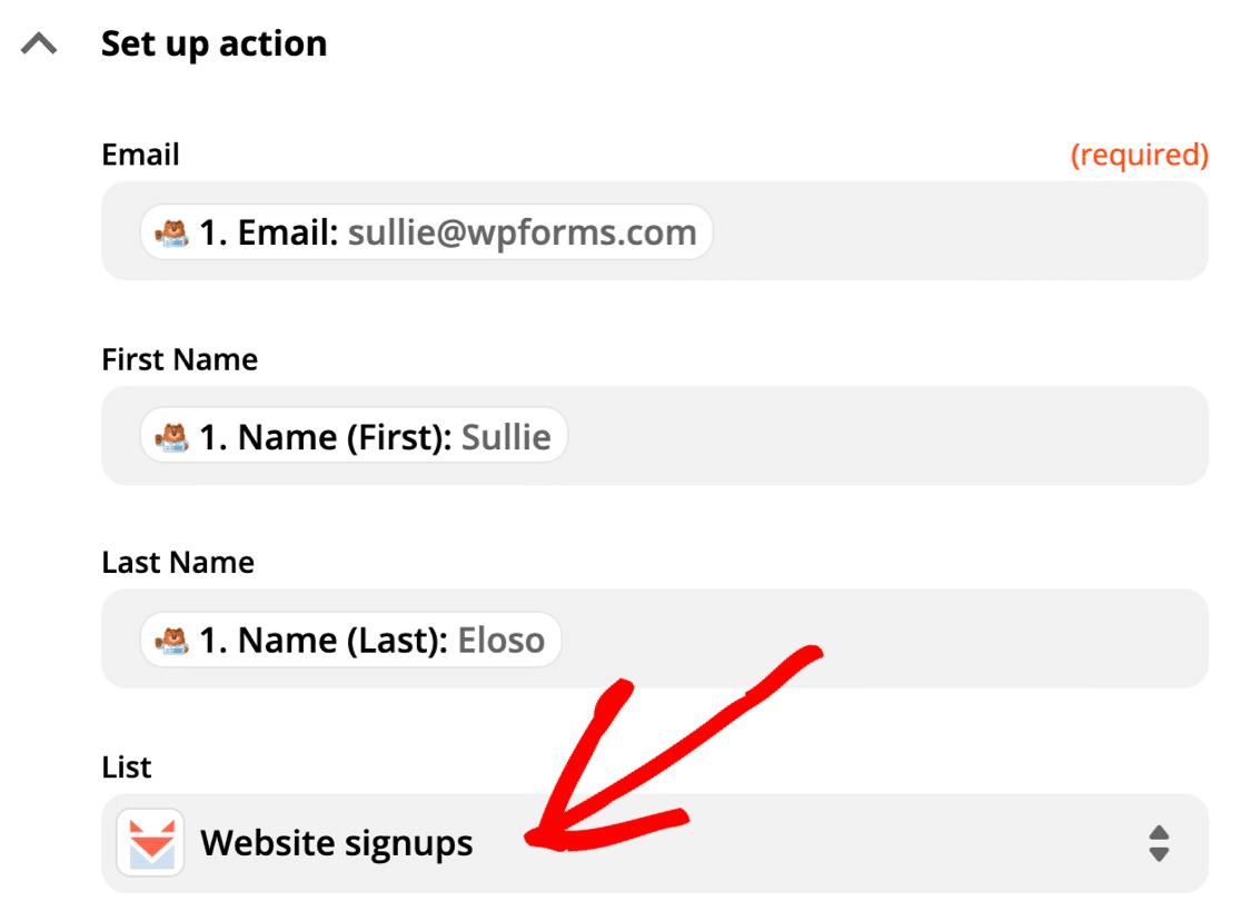 Choose SendFox list for new WordPress subscribers