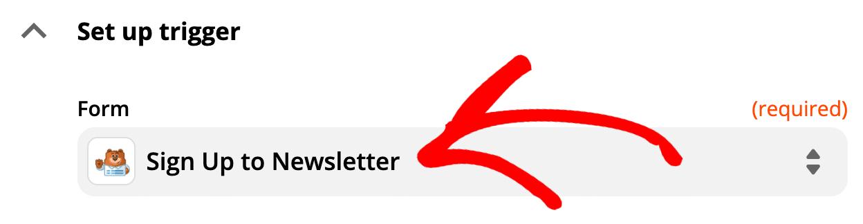 Selected WordPress SendFox form