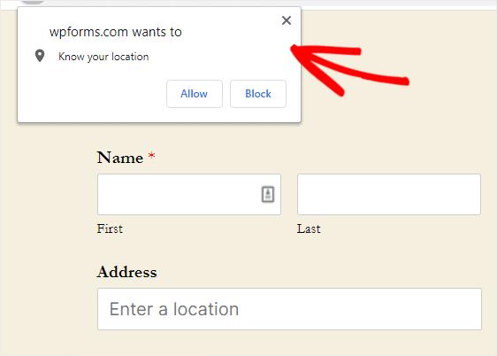 autocomplete location detection w wpforms