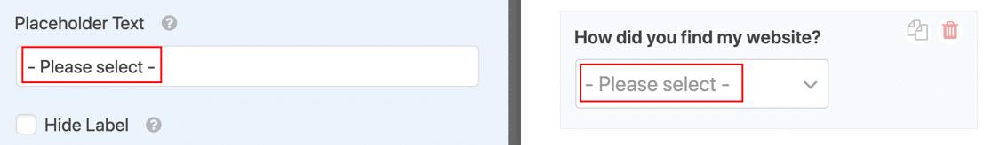 Placeholder text on WordPress dropdown field