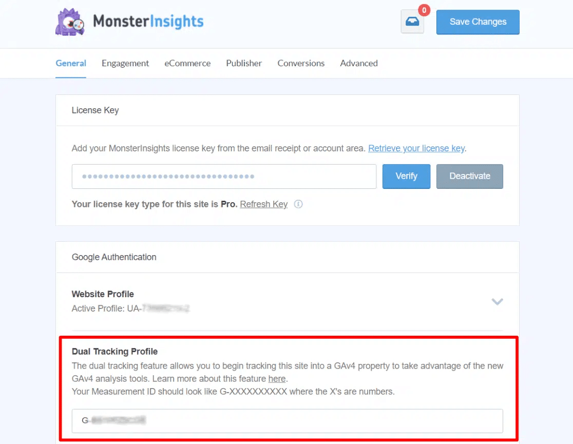 dual tracking feature for universal and google analytics 4