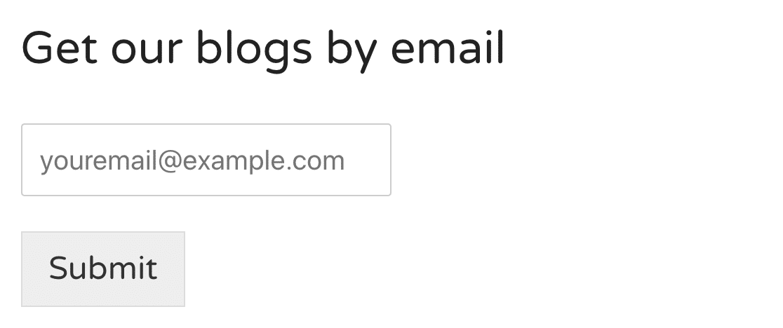 Blog post subscription form in MailPoet