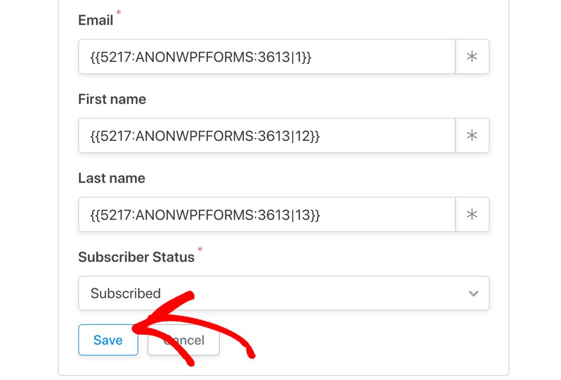 WordPress profile form fields