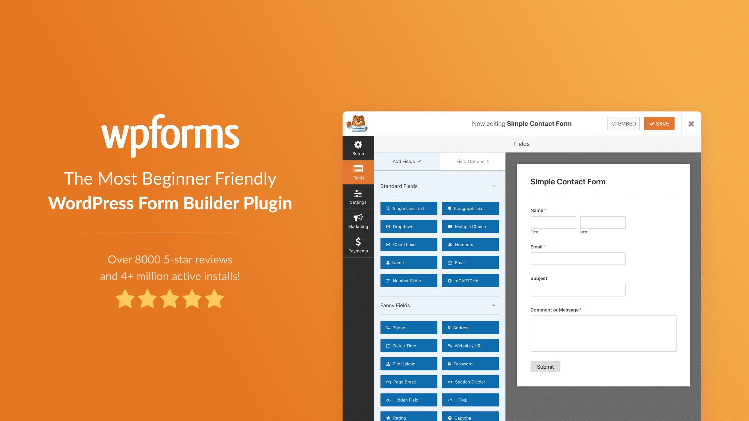 WPForms Pro v1.6.8.1 WordPress Contact Form Designer