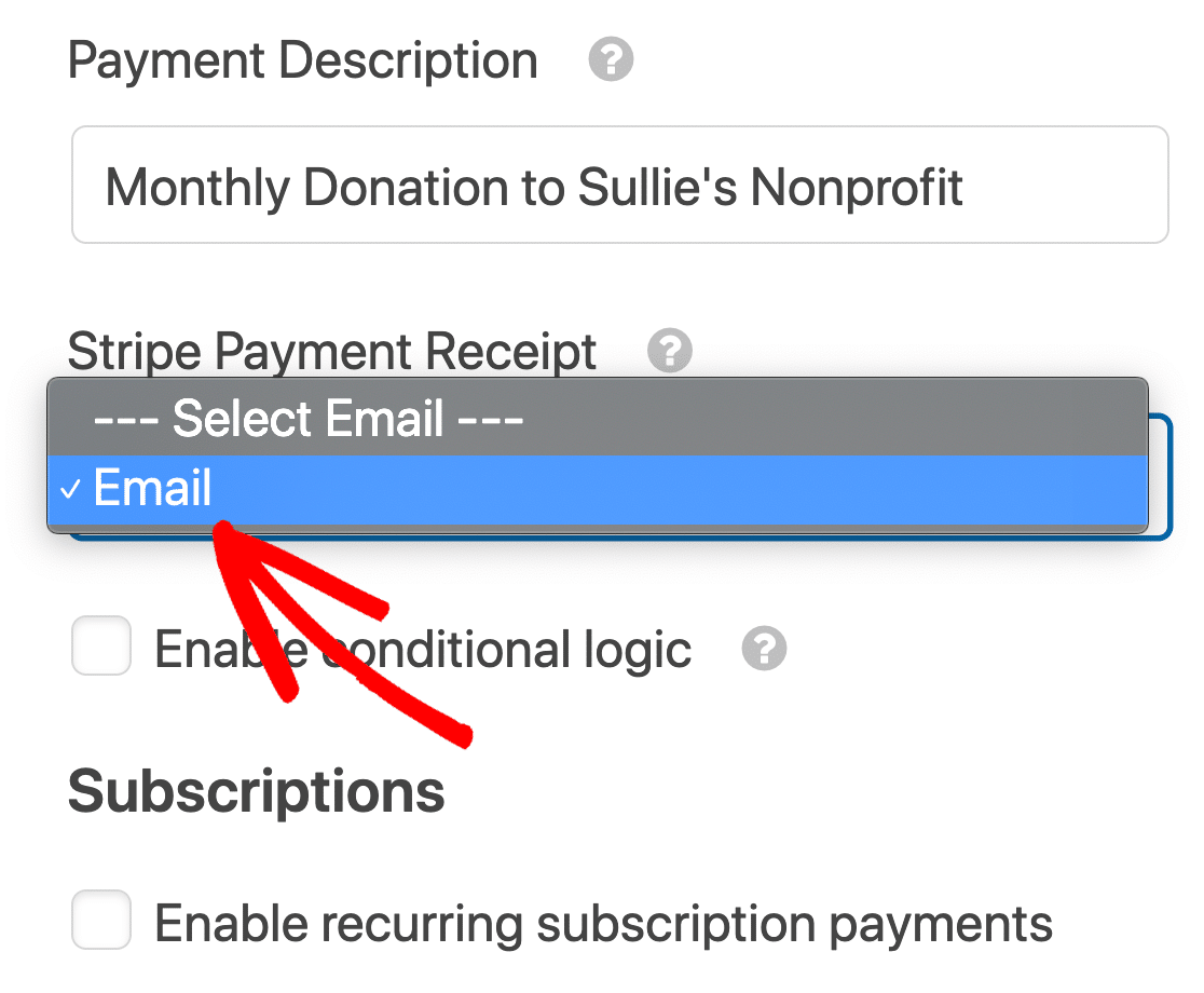 Description for WordPress recurring payments