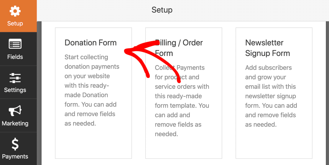 WordPress recurring payments form template