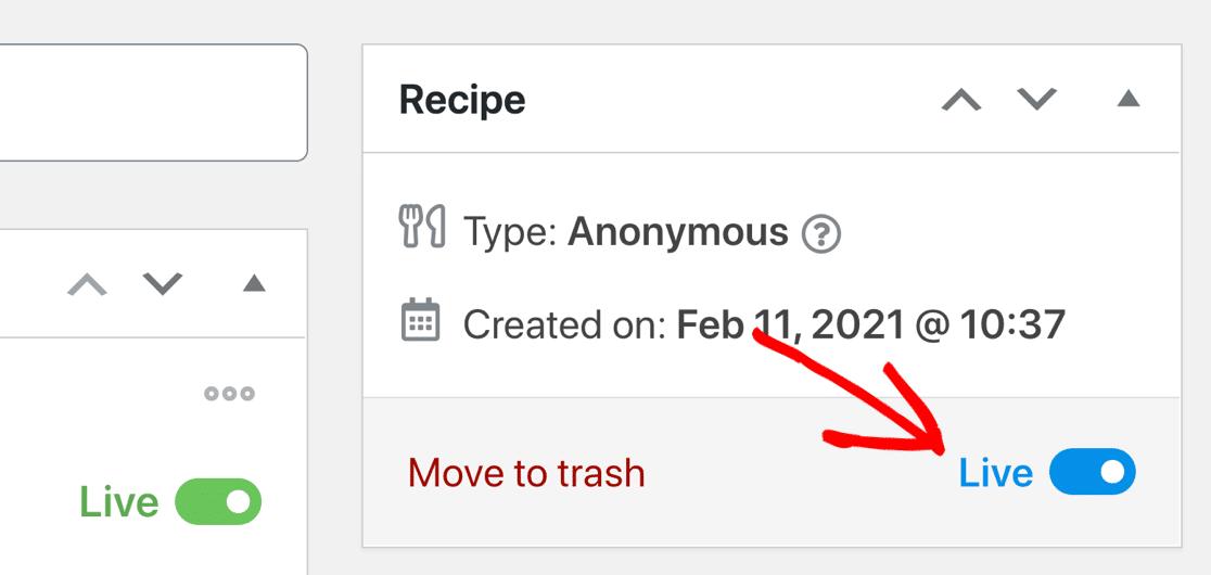 Turn on MailPoet WordPress form recipe