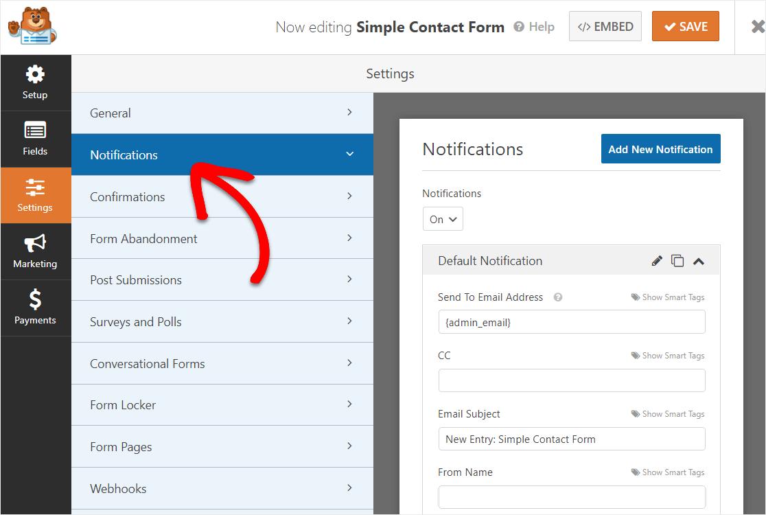 wordpress datetimepicker field form notifications