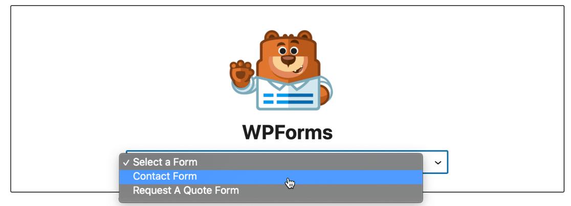 WPForms Lite block