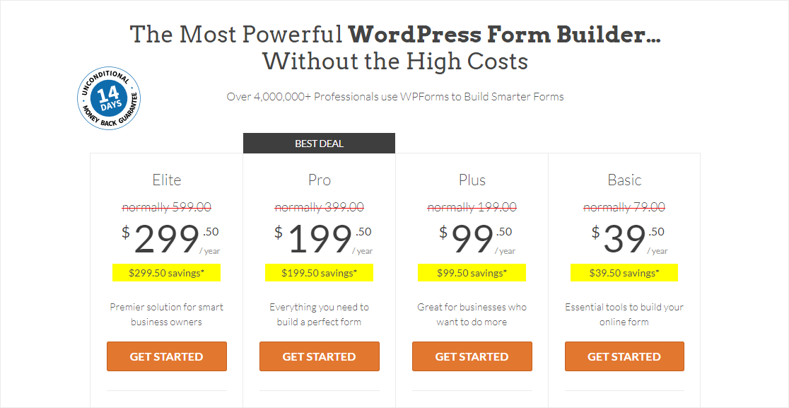 wpforms pricing page how much does wpforms cost